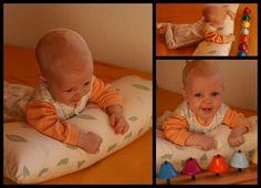 El desarrollo psicomotor de los bebés de 5 meses se caracteriza por los inicios del desplazamiento reptando y porque los movimientos son cada vez más coordinados.