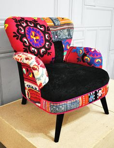 Patchwork armchair with Suzani  Hmong by namedesignstudio,