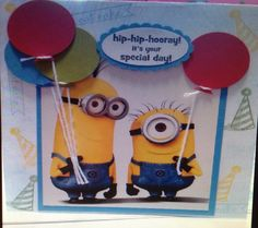 One in a minion birthday card tutorial email me for free template minion birthday card bookmarktalkfo Image collections
