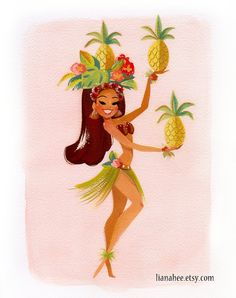 Pineapple Princess Aloha por LianaHee. Decorating the walls with a fresh touch.
