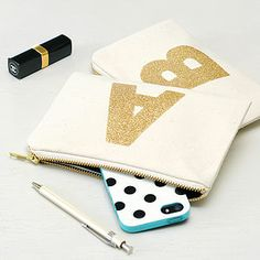 Little Initial Glitter Pouch - birthday gifts