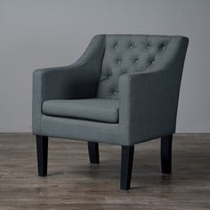 Baxton Studio Brittany Upholstered Button Tufted Modern Club Chair - Overstock™ Shopping - Great Deals on Baxton Studio Living Room Chairs (184.99)