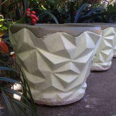 concrete planters - vintage