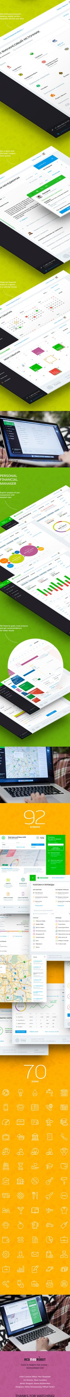 eLife online banking on Behance