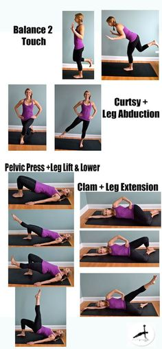 4 Pilates Moves Every Runner Should Try Hip strength is essential for a runner to maintain power and strength, and to stay injury free. The hip muscles control the mechanics of your knee and with weakness or instability a runner is at gr. Hip Strengthening Exercises, Hip Flexor Exercises, Knee Exercises, Ab Roller, Muscles In Your Body, Hip Muscles, Hip Workout, Running Workouts, My Fitness Pal