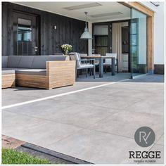 Prachtige keramische betonlook tegel.