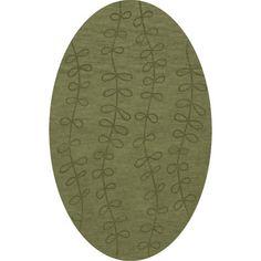 Dalyn Rug Co. Bella Green Area Rug Rug Size: Oval 4' x 6'