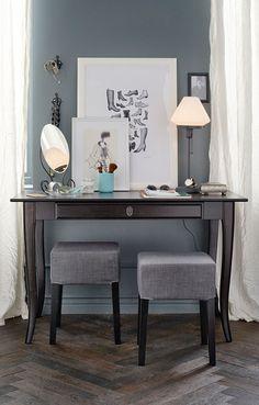 LEKSVIK Desk - use as a vanity in master