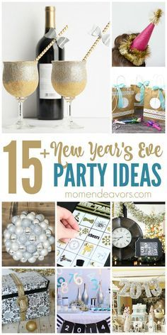 15+ DIY New Year's Eve Party Ideas!!