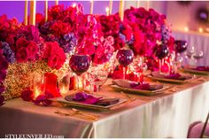 Radiant Orchid Wedding Inspiration / Striped Wedding Ideas / D. Park Photography  / via StyleUnveiled.com
