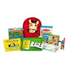 THE PRESCHOOLER ALLPAKT  $45.00  Our stylish, durable and reusable kid-sized backpacks are filled with 11 travel-friendly toys, activities and accessories.   Items include:  a themed magnetic board + magnets a plush hand puppet a Doodle Pad stackable crayons that don't roll away a bilingual book a clean tray for your lap or airplane/train tray table Wikki Stix Modeling Clay a CubeBot, to keep hands busy travel wipes, to keep things clean ...and one surprise!