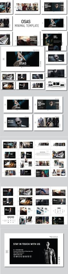 OSAS MNML Fashion Powerpoint. Presentation Templates