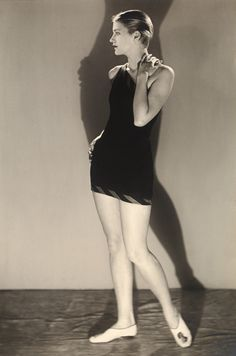 Lee Miller in bathing costume, photograph by Man Ray