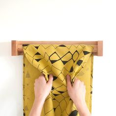 Roller Towel - Linen Towel on Birch Holder by keephousestudio on Etsy