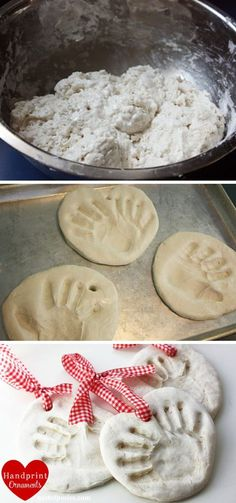 Salt Dough Handprint Ornaments.