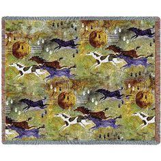 Horses of Zia Art Tapestry Throw