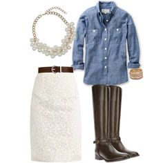 Denim and Lace   My Style