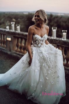 Chic Ivory Wedding Dress Lace Cheap Beautiful Wedding Dress # VB2636 #demidress #wedding #weddingdress #weddingdresses #custom #customweddingdress #beach #beachwedding #2020 #fashion