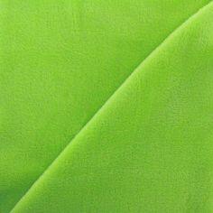 Tissu sweat envers minkee lime x 10cm - 22.50 €/m