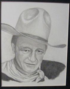John Wayne pencil drawing.
