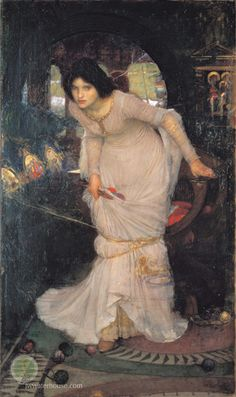 Lady of Shalott by John Waterhouse  I'm half sick of shadows