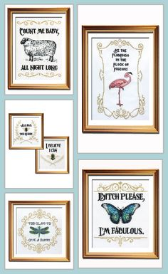 Just loving this funny cross stitch pattern collection!