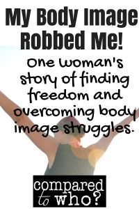 Great Christian testimony of woman who struggled with body image from elementary school on and is now overcoming it! Compared to Who?