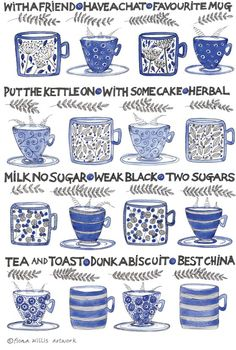 And this one knows the value of a nice cup of tea. And this one knows the value of a nice cup of tea. Te Chai, Tea Illustration, Tea Quotes, Cuppa Tea, Fun Cup, Tea Art, My Cup Of Tea, Tea Recipes, Drinking Tea