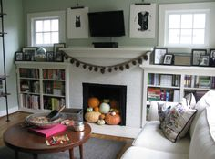 3 Impressive Tips: Living Room Remodel On A Budget Families livingroom remodel grey walls.Livingroom Remodel Foyers living room remodel with fireplace bookshelves.Living Room Remodel With Fireplace Light Fixtures. Fireplace Bookshelves, Fireplace Built Ins, Small Fireplace, Farmhouse Fireplace, Fireplace Design, Fireplace Mantels, Fireplace Decorations, Fireplace Windows, Brick Fireplaces