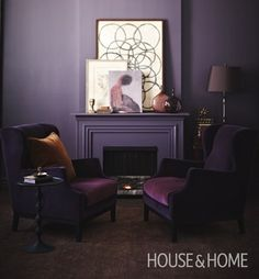 Purple will help you create a powerful yet elegant statement in a room