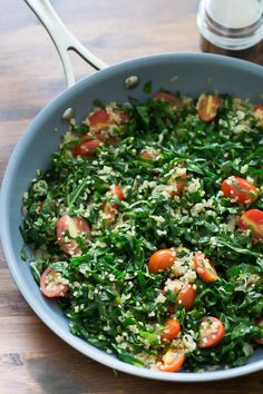 Delicious Warm Collard Quinoa Salad - Primavera Kitchen