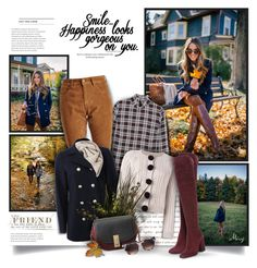 """""""Smile...Happiness Looks Gorgeous On You"""" by thewondersoffashion ❤ liked on Polyvore featuring Mother of Pearl, Barbour, Frame Denim, Toast, Chinti and Parker, Marc Jacobs, Gianvito Rossi and Thierry Lasry"""