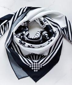 Comoran brand Maison Udjuwa introduces their African silk scarves