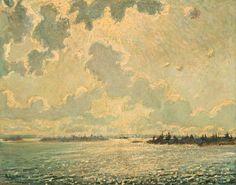 """Georgian Bay,"" Arthur Lismer, 1913, oil on canvas, 28.26 x 36.25"", National Gallery of Canada."