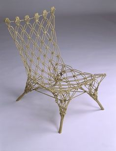 How do you make a free-standing chair out of rope? With lots of glue. This chair is a feat of engineering but I wonder if the glue makes it uncomfortable. By Marcel Wanders. Cool Furniture, Modern Furniture, Furniture Design, Standing Chair, Love Chair, Recycled Art, Cool Chairs, Modern Chairs, Altered Art