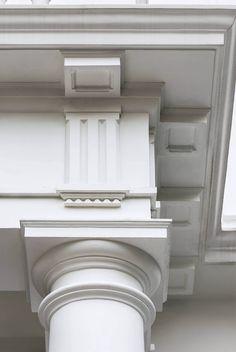 Home - Studio Indigo Facade Design, Gate Design, Exterior Design, House Outside Design, House Front Design, House Pillars, Architects London, Pillar Design, House Design Pictures