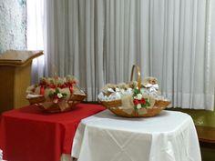 Mesa de lembranças de casamento