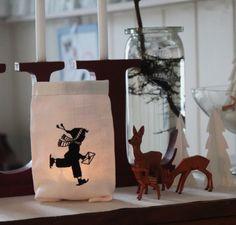 """Kleiner Lichtbeutel """"Schlittschuhläuferr"""" von  """"FeinKram""""  hier gibt es die schönsten Scherenschnitt StickDateien ;-))) auf DaWanda.com"""