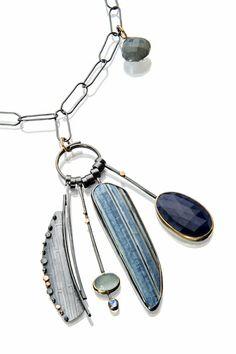Sydney Lynch. The striped stone is African opal. http://sydneylynch.com