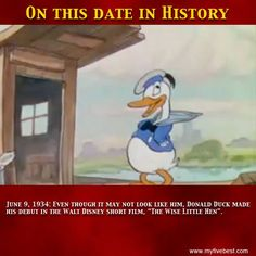 Disney introduced this character in 1934. http://www.facebook.com/myfivebest