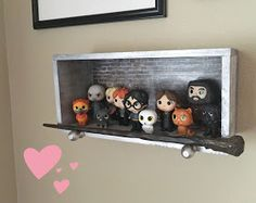 Littlebits by Emily Collette: Harry Potter Mystery Minis Display Baby Harry Potter, Harry Potter Bathroom, Harry Potter Thema, Harry Potter Nursery, Theme Harry Potter, Harry Potter Birthday, Funko Pop Harry Potter, Harry Potter Pop Figures, Harry Potter Library