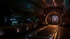 Industrial Scifi Hallway [UE4] on ArtStation at http://mattgraczykart.com/projects/EgQge