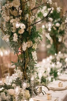 Add a touch of old Hollywood glam to your garden wedding reception.