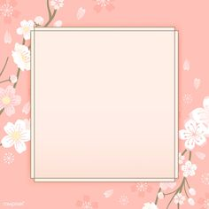 Cherry Blossom Background, Flower Background Wallpaper, Cherry Blossom Flowers, Flower Backgrounds, Instagram Frame Template, Birthday Frames, Borders And Frames, Picture Logo, Pink Images