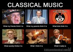 Classical Classical music is stuffy? Classical recs for fans of pop/rock/electro Orchestra Humor, Choir Humor, Choir Memes, Music Jokes, Funny Music, Funny Movies, Band Jokes, Pokerface, Band Nerd