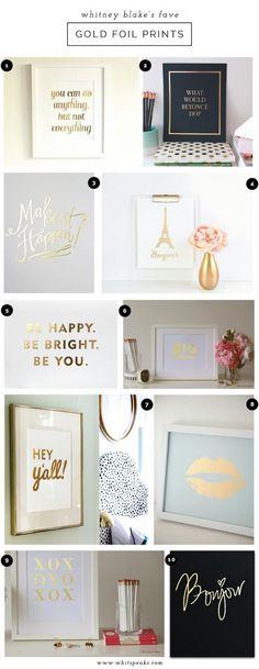 Gold Foil Art Print Love:                                                                                                                                                                                 More