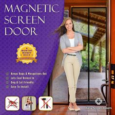 Magnetic Screen Door Sale on Amazon http://www.amazon.com/Magnetic-Screen-Door-Mesh-Curtain/dp/B00LPLHX1M
