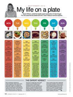 Sarah wilsons daily diet