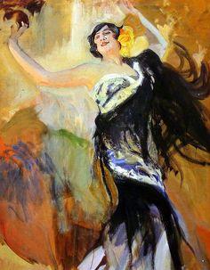 Joaquín Sorolla - Bailaora flamenca 1914 - Museo Sorolla Spanish Painters, Spanish Artists, Painting People, Figure Painting, Love Art, All Art, Dance Paintings, Collage, Art History