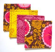 diy unique crafts | Coasters Fabric PDF Tutorial DIY Sewing Craft by fabricboutique